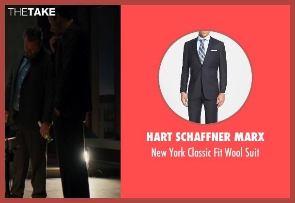 Hart Schaffner Marx black suit from The Loft seen with Matthias Schoenaerts (Philip Trauner)