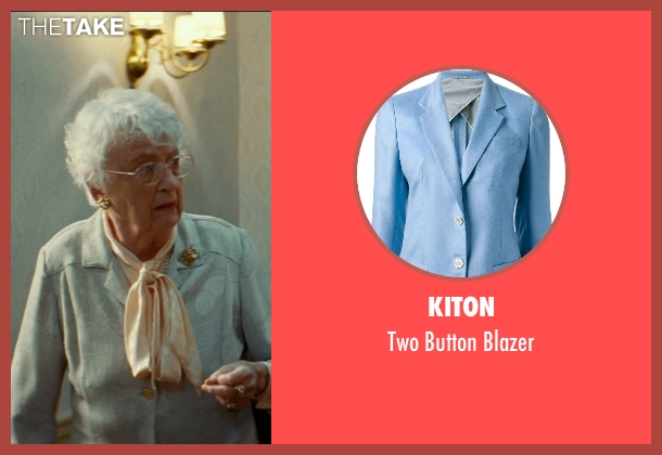 Kiton blue blazer from The Hundred-Foot Journey seen with Matyelok Gibbs (Lady Shepherd)