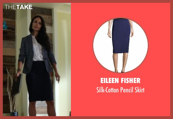Eileen Fisher blue skirt from Lethal Weapon seen with Maureen Cahill (Jordana Brewster)
