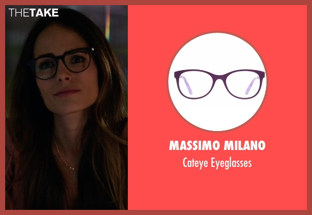 Massimo Milano purple eyeglasses from Lethal Weapon seen with Maureen Cahill (Jordana Brewster)