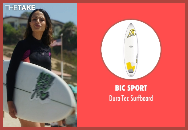 BIC Sport white surfboard from Lethal Weapon seen with Maureen Cahill (Jordana Brewster)