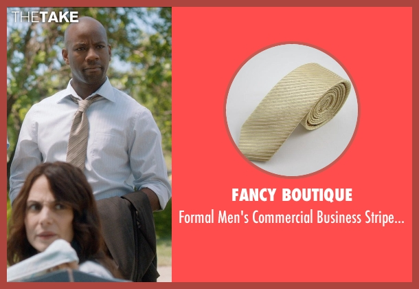 Fancy Boutique beige tie from And So It Goes seen with Maurice Jones (Ray)