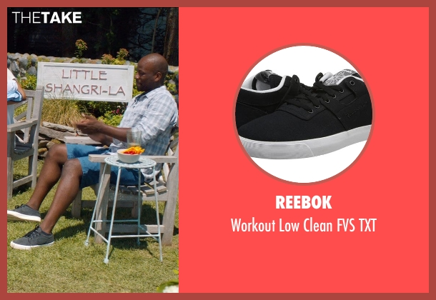 Reebok black txt from And So It Goes seen with Maurice Jones (Ray)