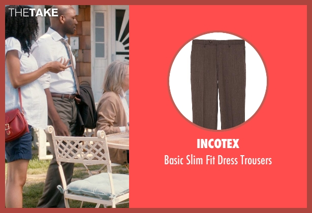 Incotex brown trousers from And So It Goes seen with Maurice Jones (Ray)