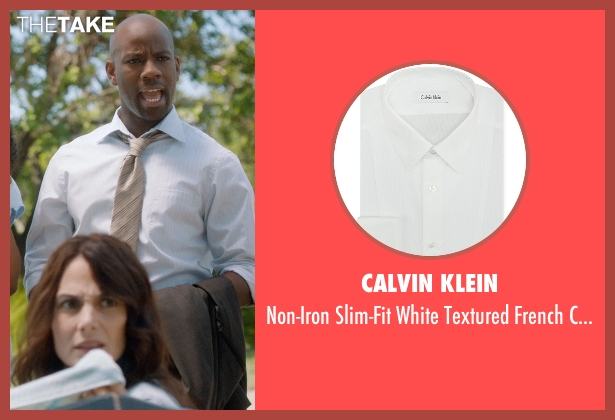 Calvin Klein white shirt from And So It Goes seen with Maurice Jones (Ray)
