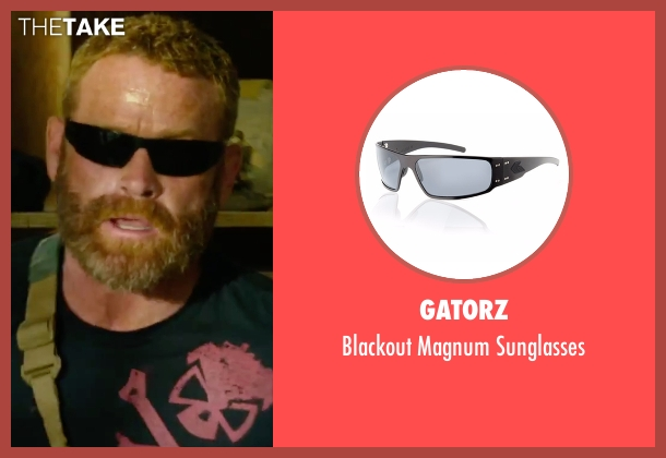 Gatorz black sunglasses from 13 Hours: The Secret Soldiers of Benghazi seen with Max Martini (Oz)