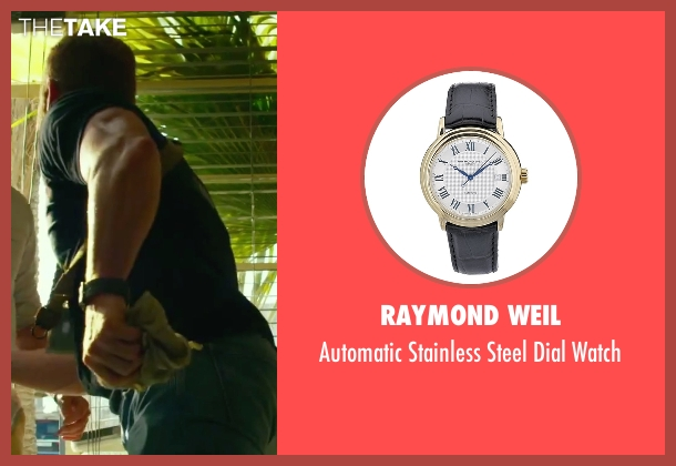 Raymond Weil black watch from 13 Hours: The Secret Soldiers of Benghazi seen with Max Martini (Oz)