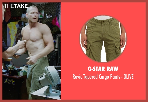 G-STAR RAW green olive from Sabotage seen with Max Martini (Tom 'Pyro' Roberts)
