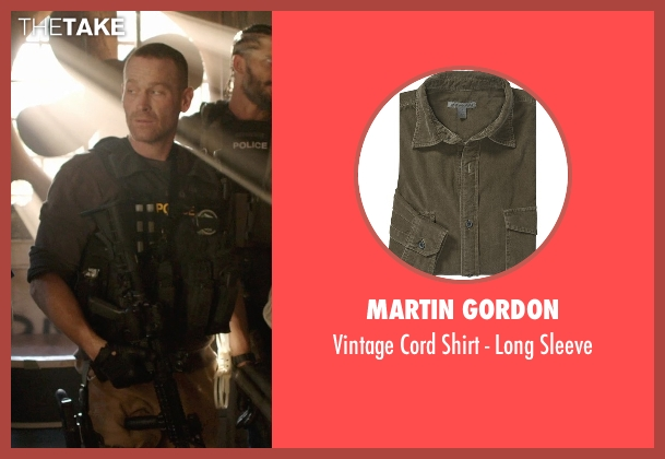 Martin Gordon green sleeve from Sabotage seen with Max Martini (Tom 'Pyro' Roberts)