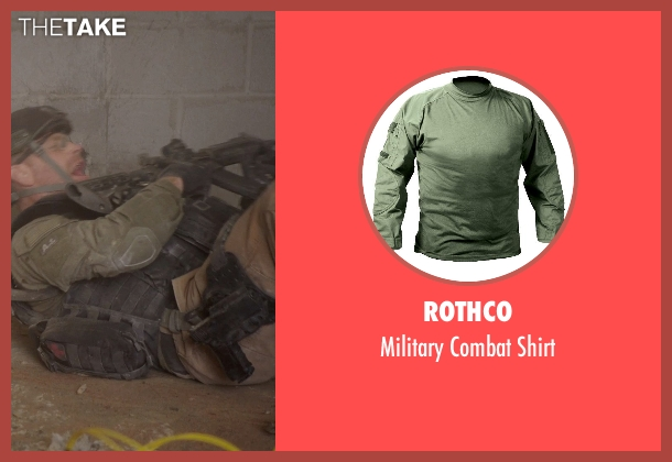 Rothco shirt from Sabotage seen with Max Martini (Tom 'Pyro' Roberts)