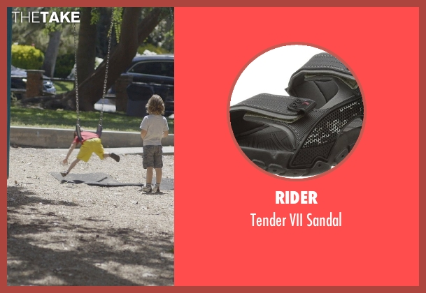 Rider black sandal from The Overnight seen with Max Moritt (Max)