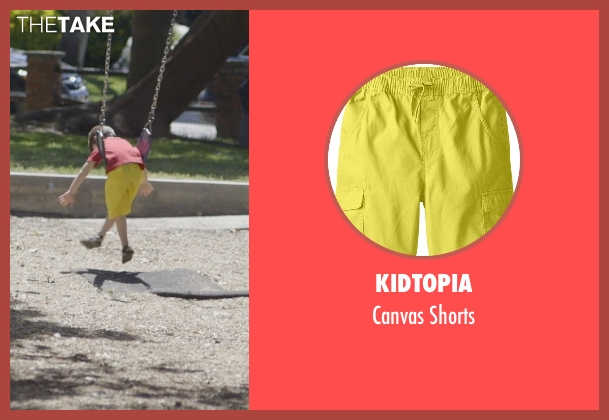 Kidtopia yellow shorts from The Overnight seen with Max Moritt (Max)