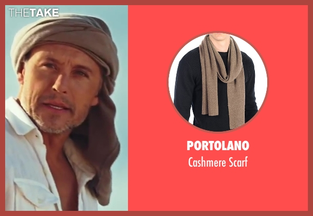 Portolano brown scarf from Sex and the City 2 seen with Max Ryan (Rikard Spirt)