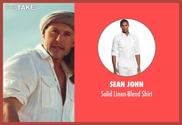 Sean John white shirt from Sex and the City 2 seen with Max Ryan (Rikard Spirt)
