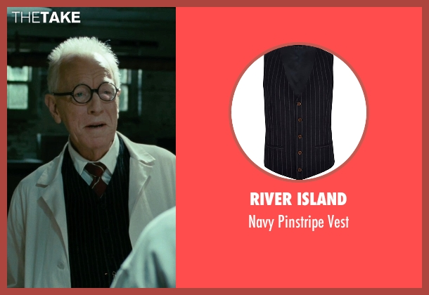 River Island black vest from Shutter Island seen with Max von Sydow (Dr. Naehring)