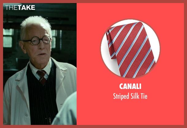 Canali red tie from Shutter Island seen with Max von Sydow (Dr. Naehring)