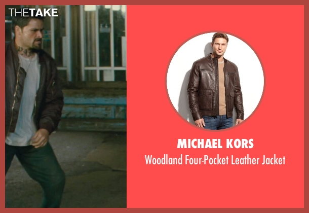 Michael Kors brown jacket from Kick-Ass seen with Max White (Diner Fight Guy #2)