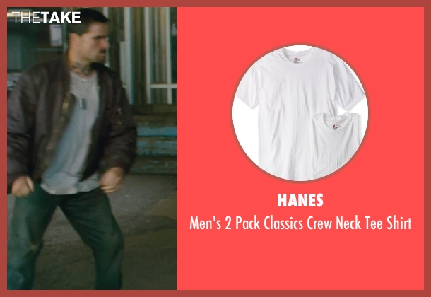 Hanes white shirt from Kick-Ass seen with Max White (Diner Fight Guy #2)
