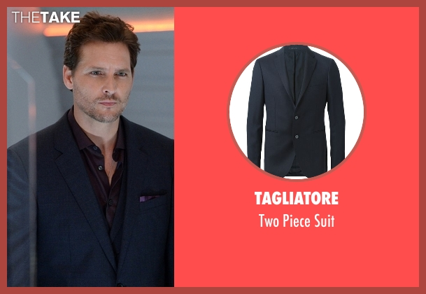 Tagliatore blue suit from Supergirl seen with Maxwell Lord (Peter Facinelli)