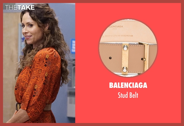Balenciaga beige belt from Speechless seen with Maya Dimeo (Minnie Driver)