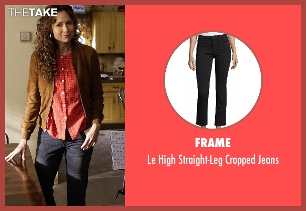 Frame black jeans from Speechless seen with Maya Dimeo (Minnie Driver)
