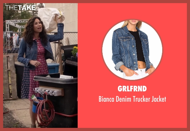 Eileen Fisher blue jacket from Speechless seen with Maya Dimeo (Minnie Driver)