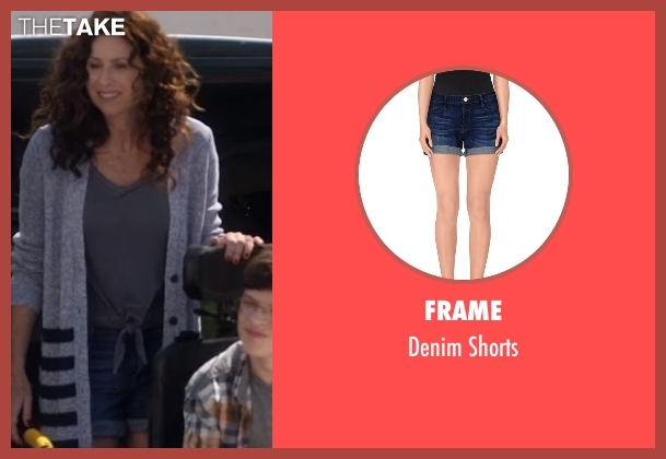 Frame blue shorts from Speechless seen with Maya Dimeo (Minnie Driver)
