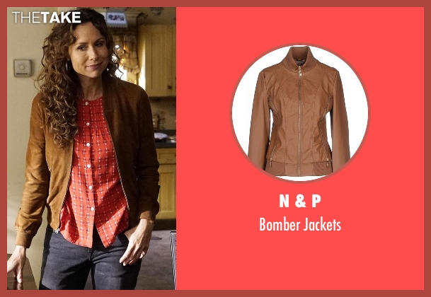 N & P brown jackets from Speechless seen with Maya Dimeo (Minnie Driver)