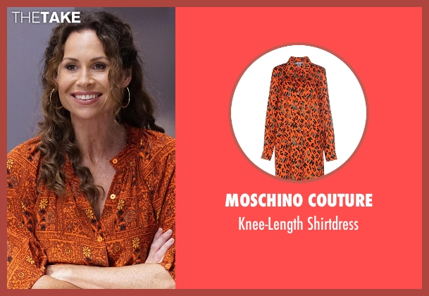 Moschino Couture orange shirtdress from Speechless seen with Maya Dimeo (Minnie Driver)