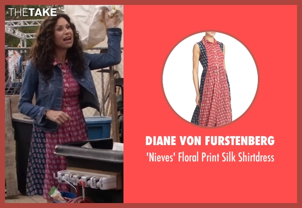 Diane von Furstenberg pink shirtdress from Speechless seen with Maya Dimeo (Minnie Driver)