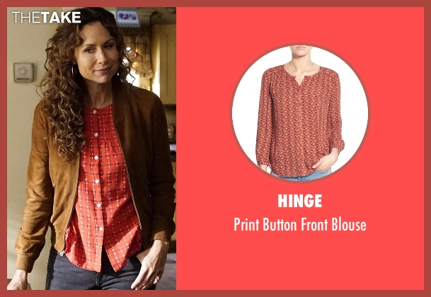 Hinge red blouse from Speechless seen with Maya Dimeo (Minnie Driver)