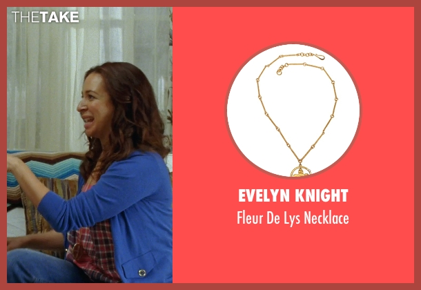 Evelyn Knight gold necklace from Bridesmaids seen with Maya Rudolph (Lillian Donovan)