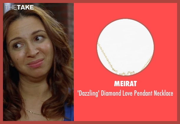 MeiraT gold necklace from Bridesmaids seen with Maya Rudolph (Lillian Donovan)