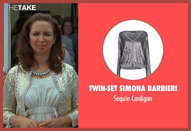 Twin-Set Simona Barbieri gray cardigan from Bridesmaids seen with Maya Rudolph (Lillian Donovan)