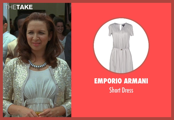 Emporio Armani gray dress from Bridesmaids seen with Maya Rudolph (Lillian Donovan)