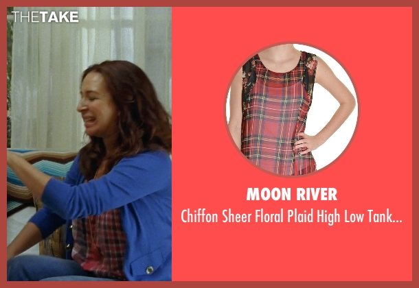 Moon River red top from Bridesmaids seen with Maya Rudolph (Lillian Donovan)