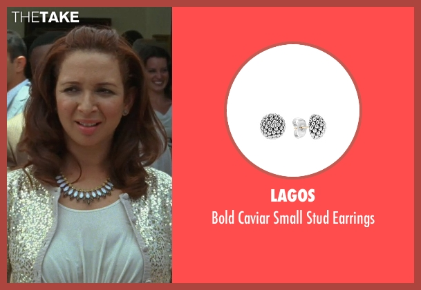 Lagos silver earrings from Bridesmaids seen with Maya Rudolph (Lillian Donovan)