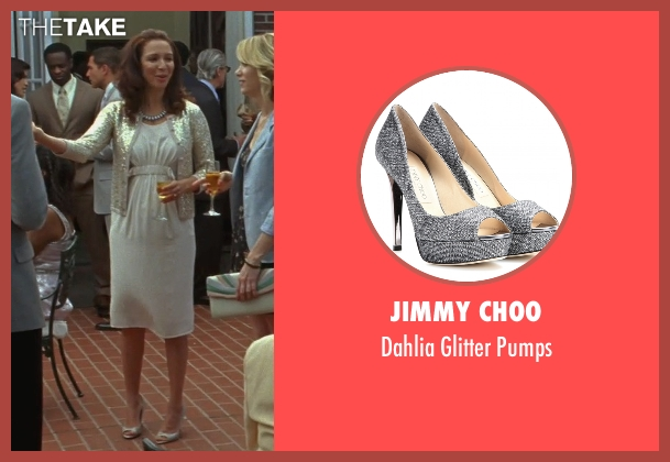 Jimmy Choo silver pumps from Bridesmaids seen with Maya Rudolph (Lillian Donovan)