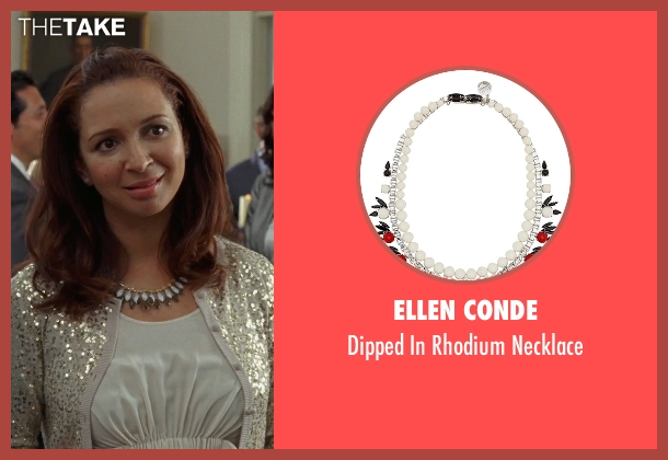 Ellen Conde white necklace from Bridesmaids seen with Maya Rudolph (Lillian Donovan)