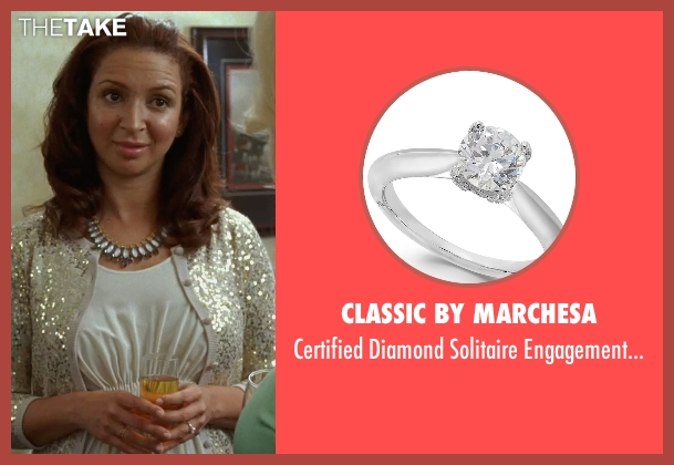 Classic By Marchesa white ring from Bridesmaids seen with Maya Rudolph (Lillian Donovan)