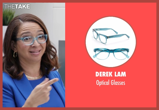 Derek Lam blue glasses from Popstar: Never Stop Never Stopping seen with Maya Rudolph (Unknown Character)