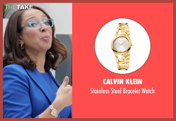 Calvin Klein gold watch from Popstar: Never Stop Never Stopping seen with Maya Rudolph (Unknown Character)
