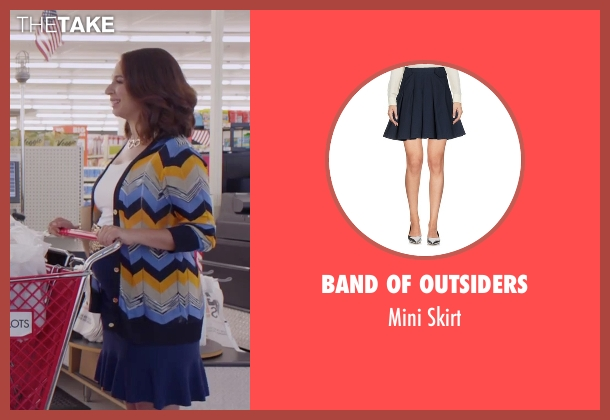 Sandro blue skirt from Sisters seen with Maya Rudolph (Brinda)