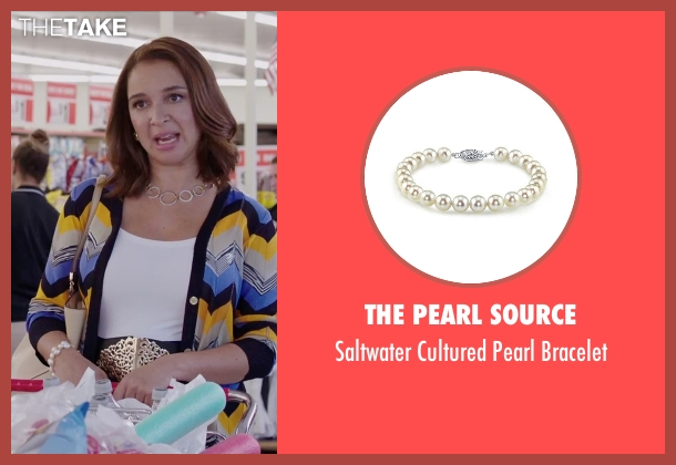 Bella Pearl white bracelet from Sisters seen with Maya Rudolph (Brinda)