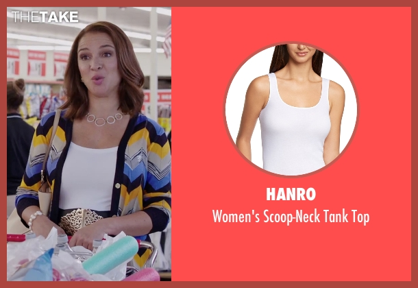 Hanro white top from Sisters seen with Maya Rudolph (Brinda)