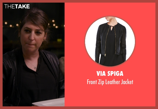 Via Spiga black jacket from Chelsea seen with Mayim Bialik