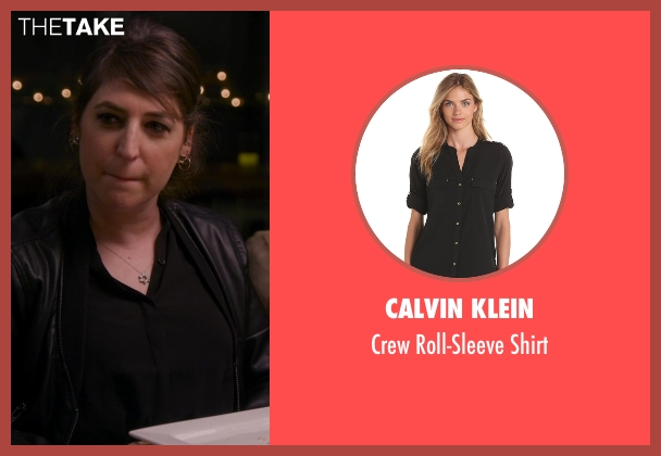 Calvin Klein black shirt from Chelsea seen with Mayim Bialik