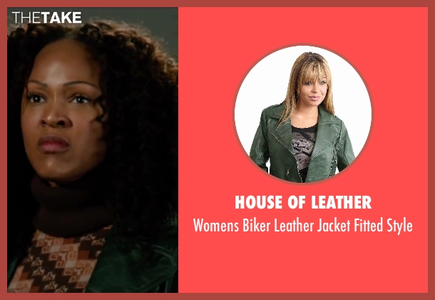 House of Leather green style from Anchorman 2: The Legend Continues seen with Meagan Good (Linda Jackson)