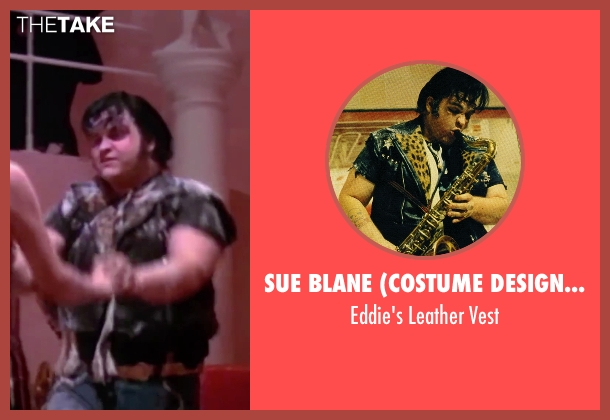Sue Blane (Costume Designer) black vest from The Rocky Horror Picture Show seen with Meat Loaf (Eddie)