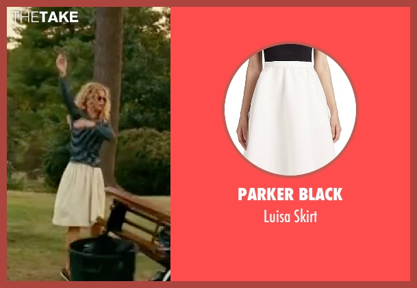 Parker Black  white skirt from The Women seen with Meg Ryan (Mary Haines)